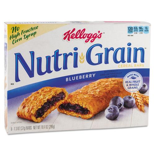 Nutri-Grain Soft Baked Breakfast Bars, Blueberry, Indv Wrapped 1.3 oz Bar, 16/Box. Picture 1