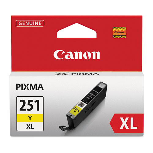 6451B001 (CLI-251XL) ChromaLife100+ High-Yield Ink, 695 Page-Yield, Yellow. Picture 1