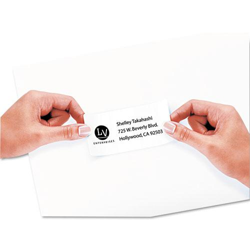 Repositionable Shipping Labels w/Sure Feed, Inkjet/Laser, 2 x 4, White, 1000/Box. Picture 2