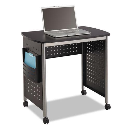 """Scoot Desk, 32.25"""" x 22"""" x 30.5"""", Black/Silver. Picture 1"""
