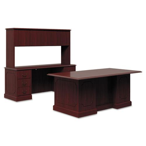 94000 Series Kneespace Credenza, 72w x 24d x 29.5h, Mahogany. Picture 2