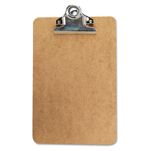 """Hardboard Clipboard, 3/4"""" Capacity, Holds 5w x 8h, Brown. Picture 1"""