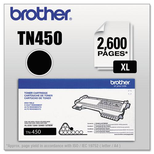 TN450 High-Yield Toner, 2,600 Page-Yield, Black. Picture 1