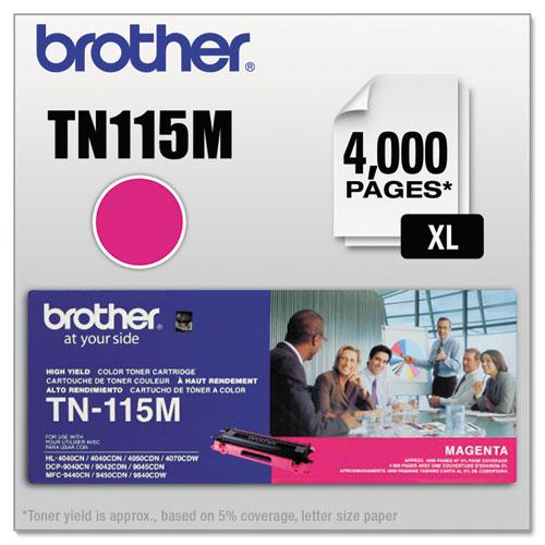 TN115M High-Yield Toner, 4,000 Page-Yield, Magenta. Picture 1