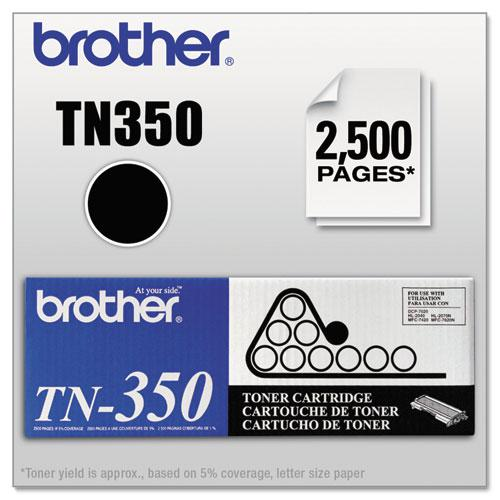 TN350 Toner, 2,500 Page-Yield, Black. Picture 1