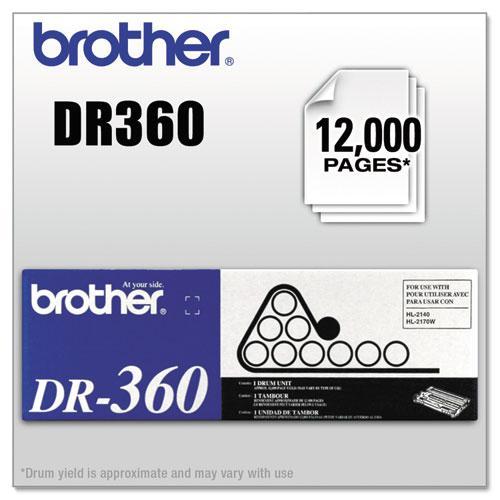 DR360 Drum Unit, 12,000 Page-Yield, Black. Picture 1