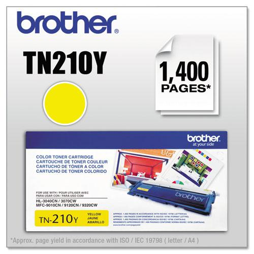 TN210Y Toner, 1,400 Page-Yield, Yellow. Picture 1