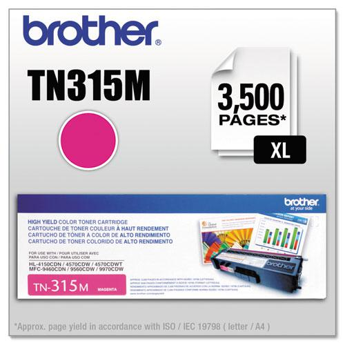 TN315M High-Yield Toner, 3,500 Page-Yield, Magenta. Picture 1