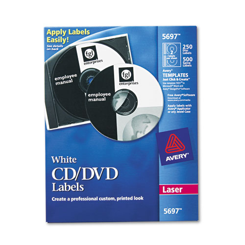 Laser CD Labels, Matte White, 250/Pack. Picture 1