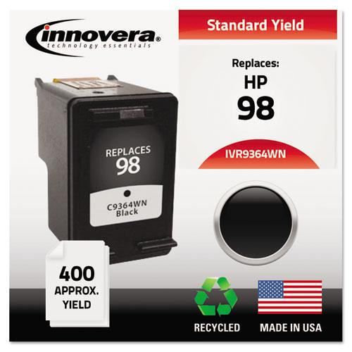 Remanufactured Black High-Yield Ink, Replacement for HP 98 (C9364A), 400 Page-Yield. Picture 2