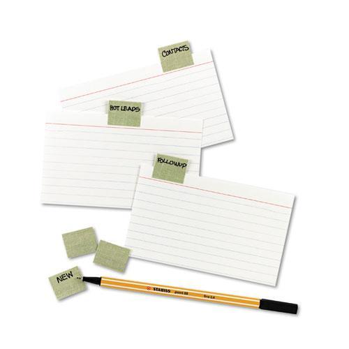 "Gummed Reinforced Index Tabs, 1/5-Cut Tabs, Olive Green, 1"" Wide, 50/Pack. Picture 2"