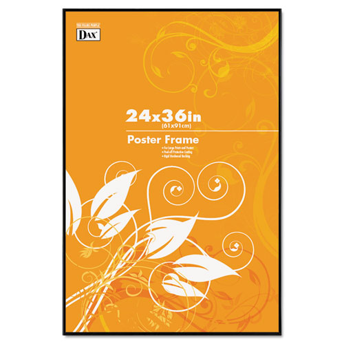 Coloredge Poster Frame, Clear Plastic Window, 24 x 36, Black. Picture 1