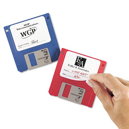 "Laser/Inkjet 3.5"" Diskette Labels, White, 375/Pack. Picture 2"