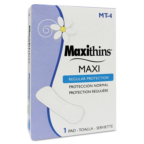 Maxithins Vended Sanitary Napkins #4, 250 Individually Boxed Napkins/Carton. Picture 1