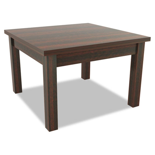 Alera Valencia Series Occasional Table, Rectangle,23-5/8w x20d x20-3/8h,Mahogany. Picture 1