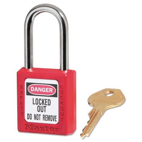"""Government Safety Lockout Padlock, Zenex, 1 1/2"""", Red, 1 Key, 6/Box. Picture 1"""
