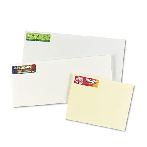 Vibrant Laser Color-Print Labels w/ Sure Feed, 3/4 x 2 1/4, White, 750/PK. Picture 2