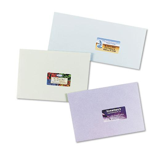 Vibrant Laser Color-Print Labels w/ Sure Feed, 1 1/4 x 2 3/8, White, 450/Pack. Picture 2