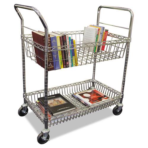 Carry All Cart Mail Cart Two Shelf 34 7 8w X 18d X 39 1
