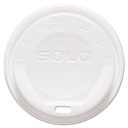 Gourmet Hot Cup Lids, For Trophy Plus Cups, 12-20 oz, White, 1500/Carton