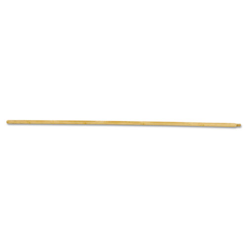 Threaded End Broom Handle, Lacquered Hardwood, 15/16 dia x 54, Natural. Picture 1