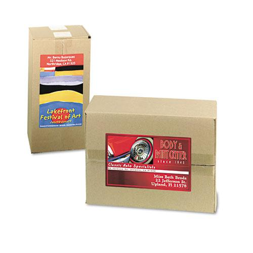 Vibrant Laser Color-Print Labels w/ Sure Feed, 4 3/4 x 7 3/4, White, 50/Pack. Picture 3