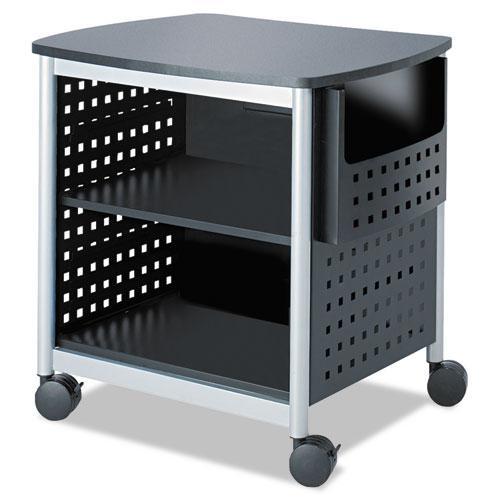 Scoot Printer Stand, 26.5w x 20.5d x 26.5h, Black/Silver. Picture 2