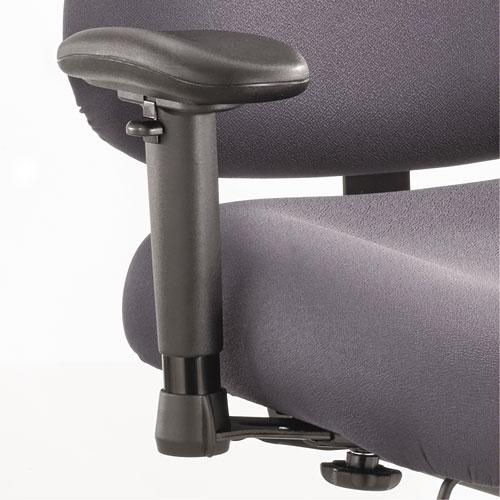 Height/Width-Adjustable T-Pad Arms for Optimus Big and Tall Chairs, 4w x 10.25d x 11.5 to 14.5h, Black, 1 Pair. Picture 1