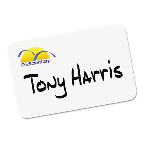 Printable Adhesive Name Badges, 3.38 x 2.33, White, 100/Pack. Picture 2