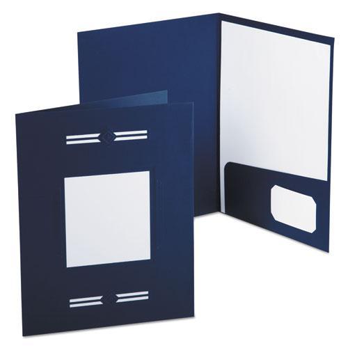 Imperial Series Laserview Business Portfolio, Premium Paper, Blue, 10/Pack. Picture 1
