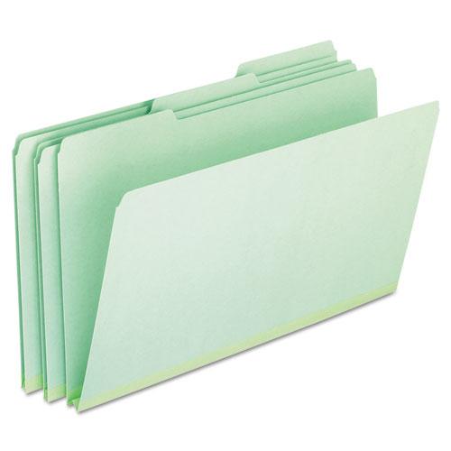 Pressboard Expanding File Folders, 1/3-Cut Tabs, Legal Size, Green, 25/Box. Picture 1