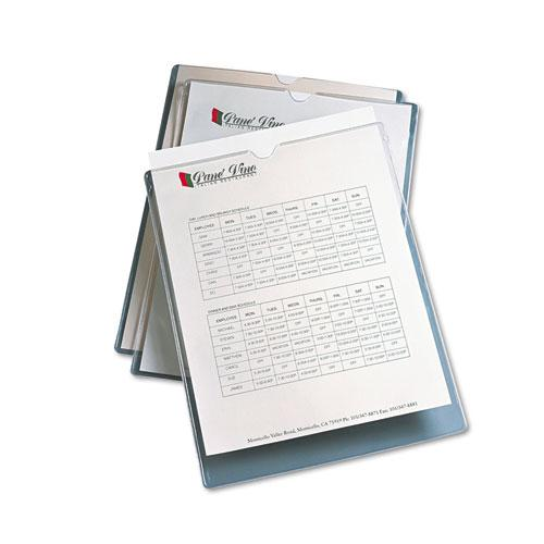"""Top-Load Clear Vinyl Envelopes w/Thumb Notch, 9"""" x 12"""", Clear, 10/Pack. Picture 4"""