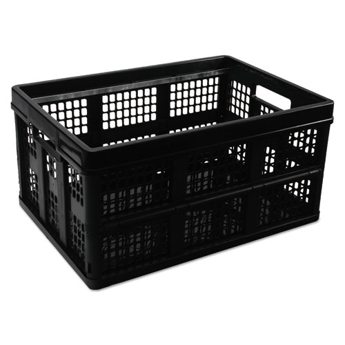 """Filing/Storage Tote, Letter Files, 20.13"""" x 14.63"""" x 10.75"""", Black. Picture 1"""