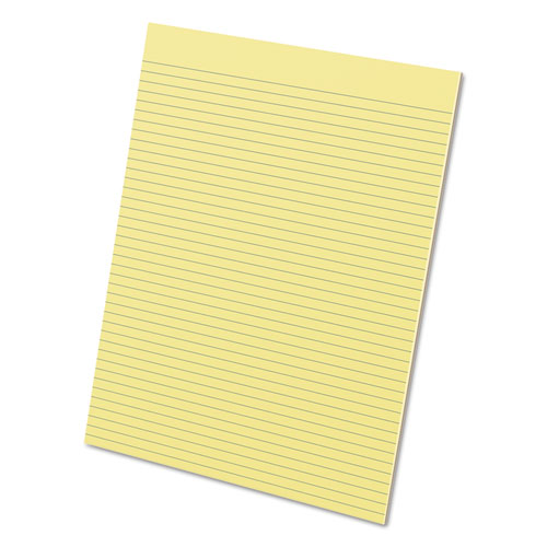 Glue Top Pads, Narrow Rule, 8.5 x 11, Canary, 50 Sheets, Dozen. Picture 1