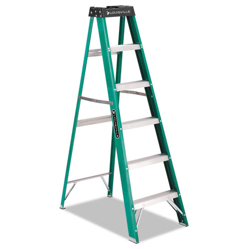 Louisville 592 Folding Fiberglass Step Ladder 6 Ft 5