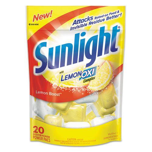 Auto Dish Power Pacs, Lemon Scent, 1.5 oz Single Dose Pouches, 20/Pk, 6 Pks/Ct. Picture 1