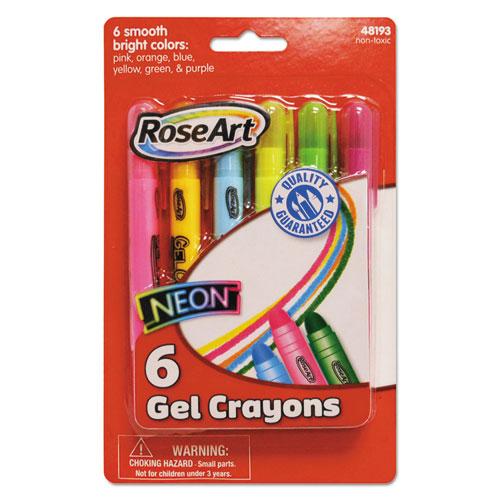Gel Crayons Bright Colors 6 Pk
