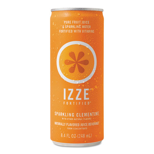 Fortified Sparkling Juice, Clementine, 8.4 oz Can, 24/Carton. Picture 1