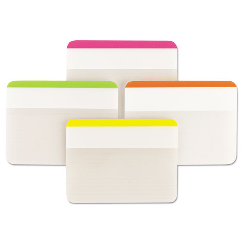"""Tabs, Lined, 1/5-Cut Tabs, Assorted Brights, 2"""" Wide, 24/Pack. Picture 2"""