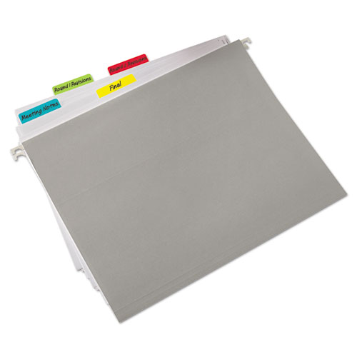 "2"" and 3"" Tabs, 1/5-Cut Tabs, Assorted Colors, 2"" Wide, 24/Pack. Picture 3"