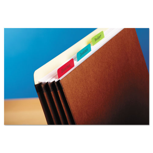 "2"" and 3"" Tabs, 1/5-Cut Tabs, Assorted Colors, 2"" Wide, 24/Pack. Picture 5"