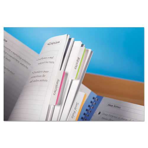 """Tabs, Lined, 1/5-Cut Tabs, Assorted Brights, 2"""" Wide, 24/Pack. Picture 4"""