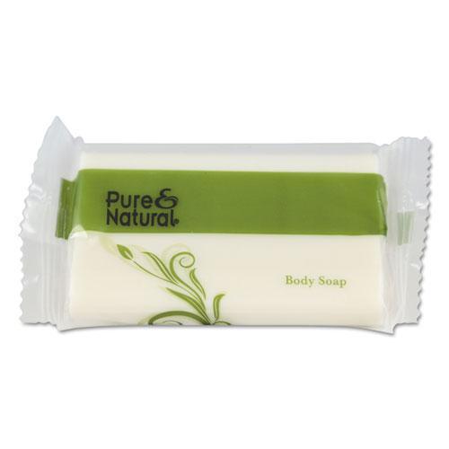 Body & Facial Soap, # 1 1/2, Fresh Scent, White, 500/Carton. Picture 1
