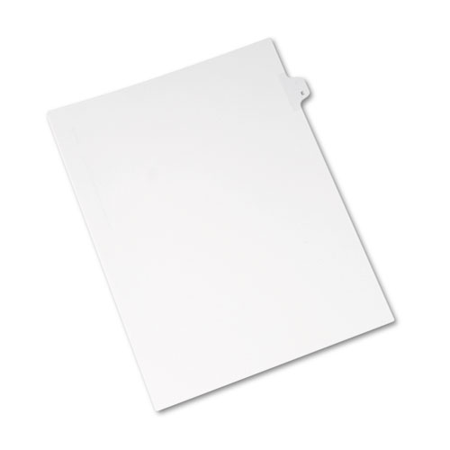Preprinted Legal Exhibit Side Tab Index Dividers, Allstate Style, 26-Tab, E, 11 x 8.5, White, 25/Pack. Picture 1