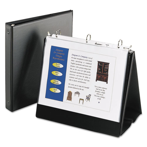 "Easel Presentation Durable Binder, 1"" Round Rings, Holds"