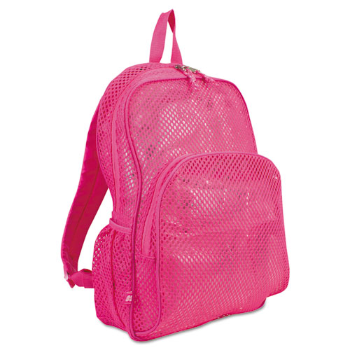 Mesh Backpack, 12 x 5 x 18, Pink. Picture 2