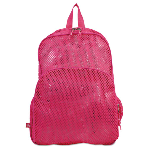 Mesh Backpack, 12 x 5 x 18, Pink. Picture 1