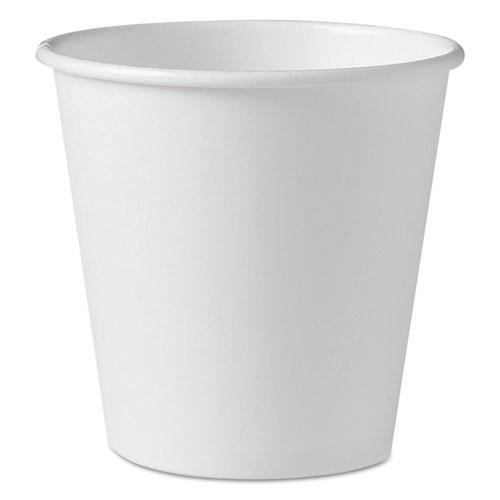 Polycoated Hot Paper Cups, 10 oz, White, 1000/Carton. Picture 1