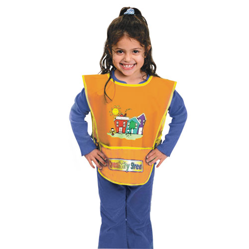 Kraft Artist Smock, Fits Kids Ages 3-8, Vinyl, One Size Fits All, Bright Colors. Picture 1