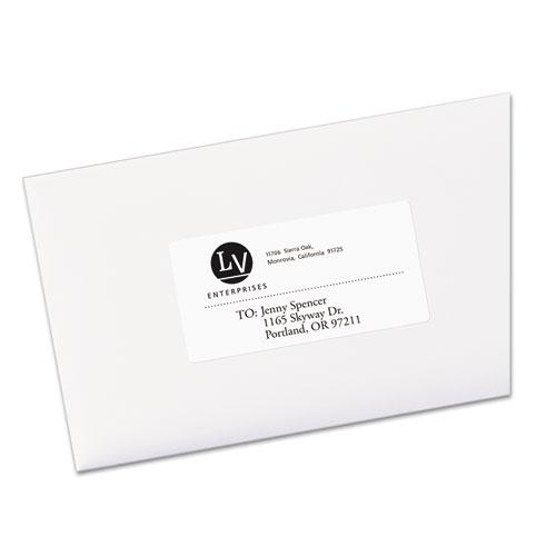 EcoFriendly Mailing Labels, Inkjet/Laser Printers, 2 x 4, White, 10/Sheet, 100 Sheets/Pack. Picture 2